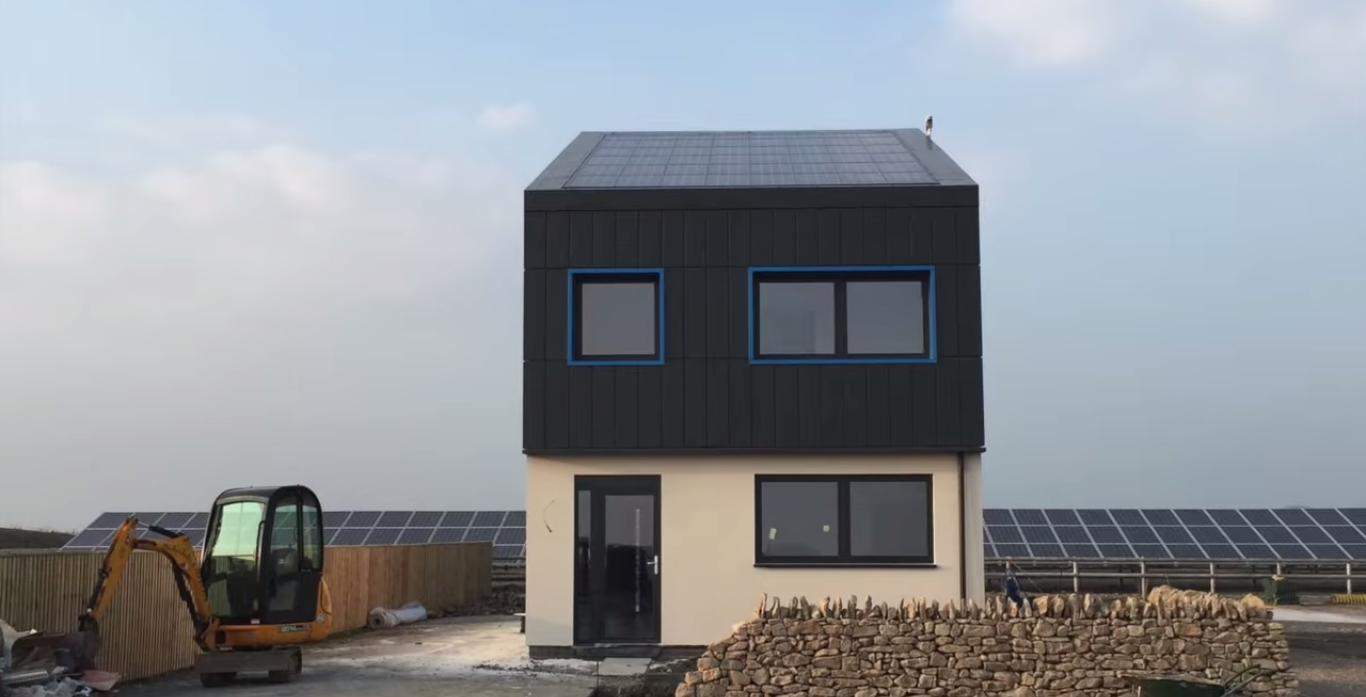 The Solcer House's energy-positive status is achieved by way of reduced energy demand, renewable energy supply and storing energy for later use