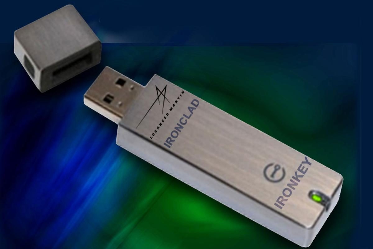 The IronClad shrinks a laptop' hard drive, including the entire operating system, software applications, and files, onto a fully encrypted flash drive - a PC-on a-stick that delivers hardware-level protection against today's most insidious malware threats
