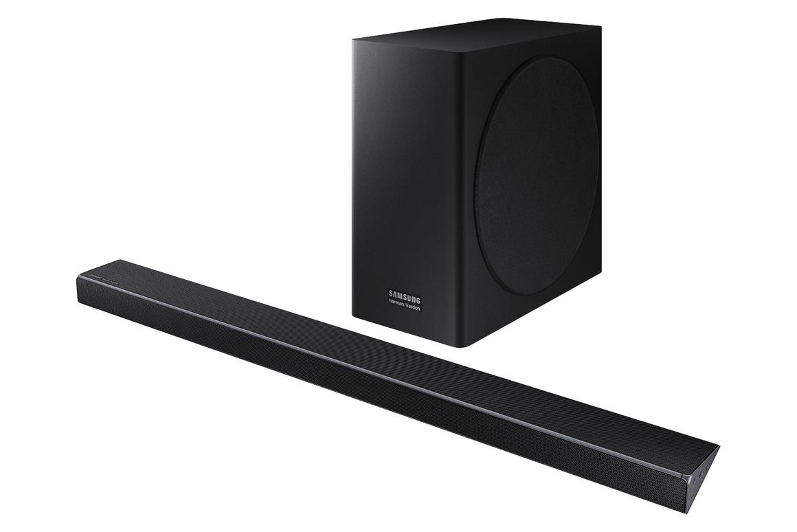 Samsung's new Q Series soundbars come with two sound enhancing technologies: Adaptive Sound and Acoustic Beam