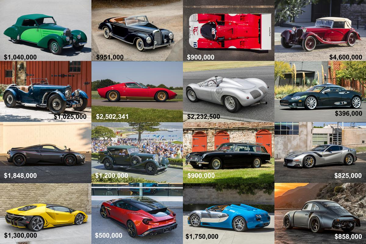 The prices fetched and the high bids at 2020 Petersen (Virtual Monterey) Car Week - the week in which the Collectible Car Auction Industry went online