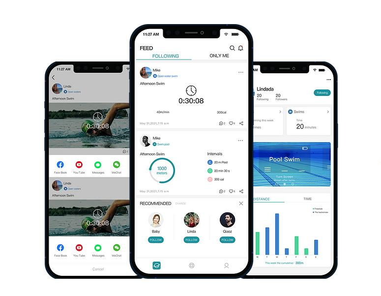 After each training session, Holoswim users can review their performance on the app