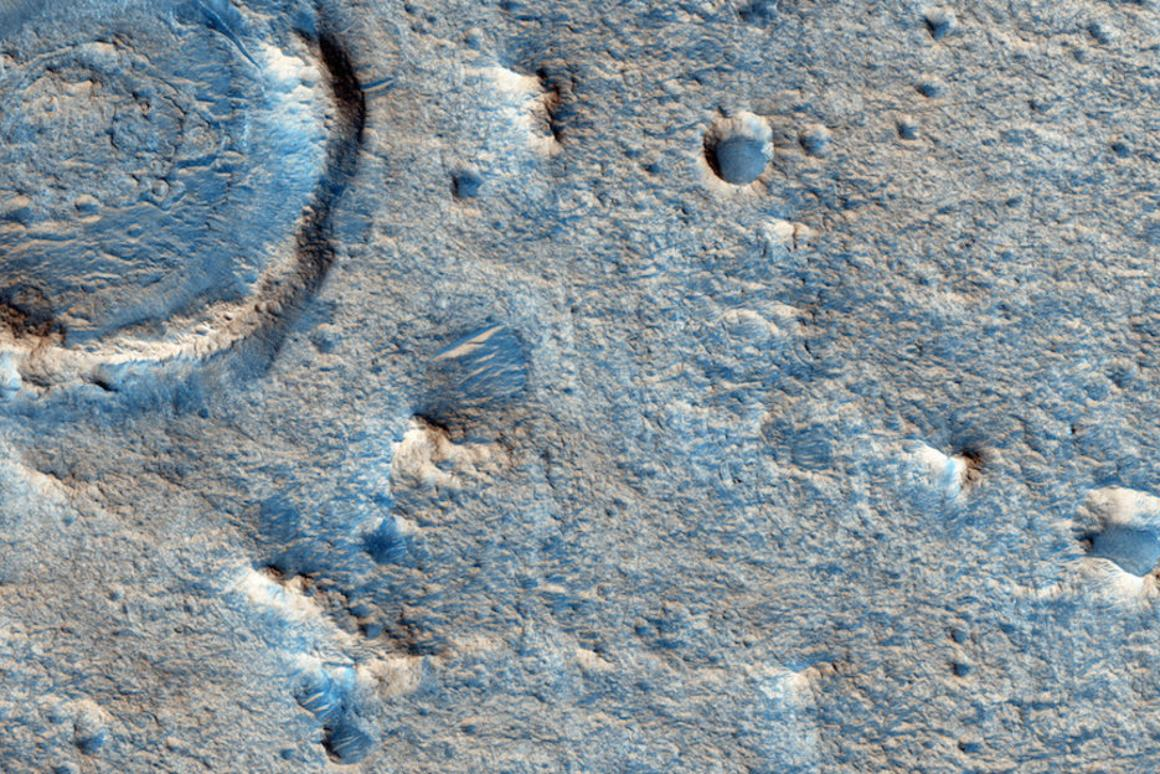 Close up view ofOxia Planum, which has been selected as the preferred landingsite for the ExoMars rover