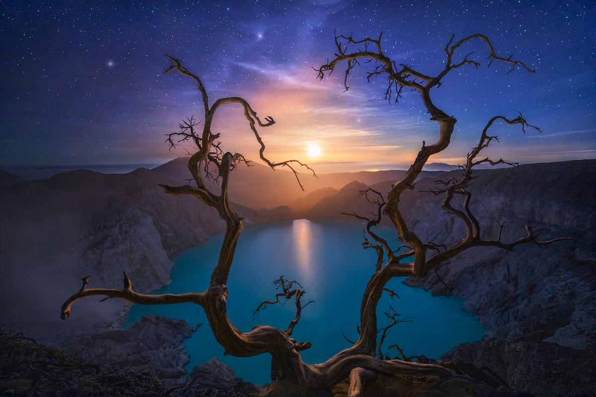 Top 101. Ijen volcano, Java island, Indonesia