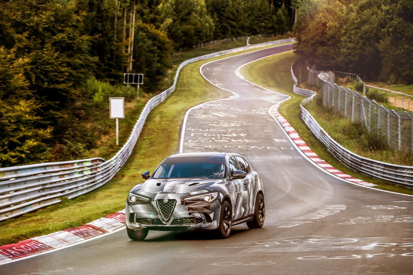 The Stelvio Quadrifoglio takes on the Nurburgring Nordschleife