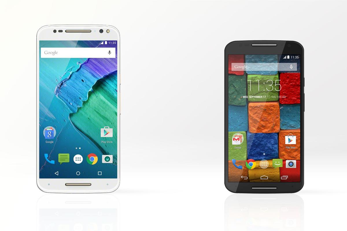 Motorola's newest flagship has a similar design to the 2014 model, but with a much larger display