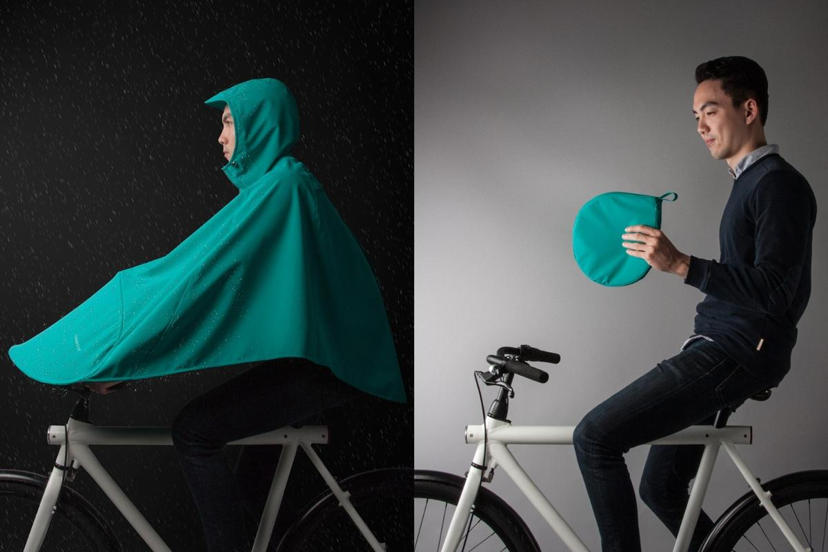 Vanmoof has designed the Boncho to pack away into its own compact carry pouch