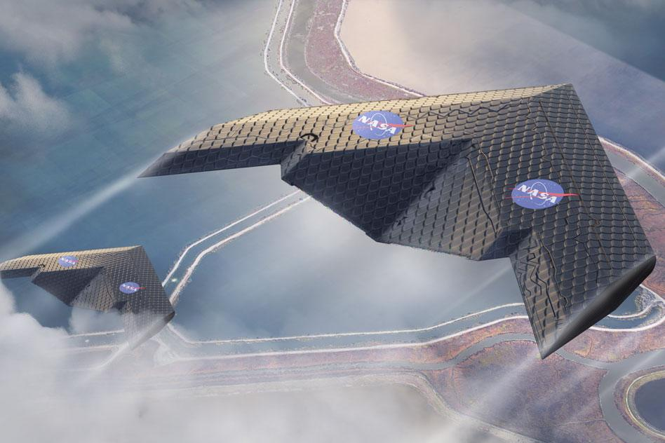 The new way of fabricating aircraft wings could enable radical new designs, such as this concept, which could be more efficient for some applications