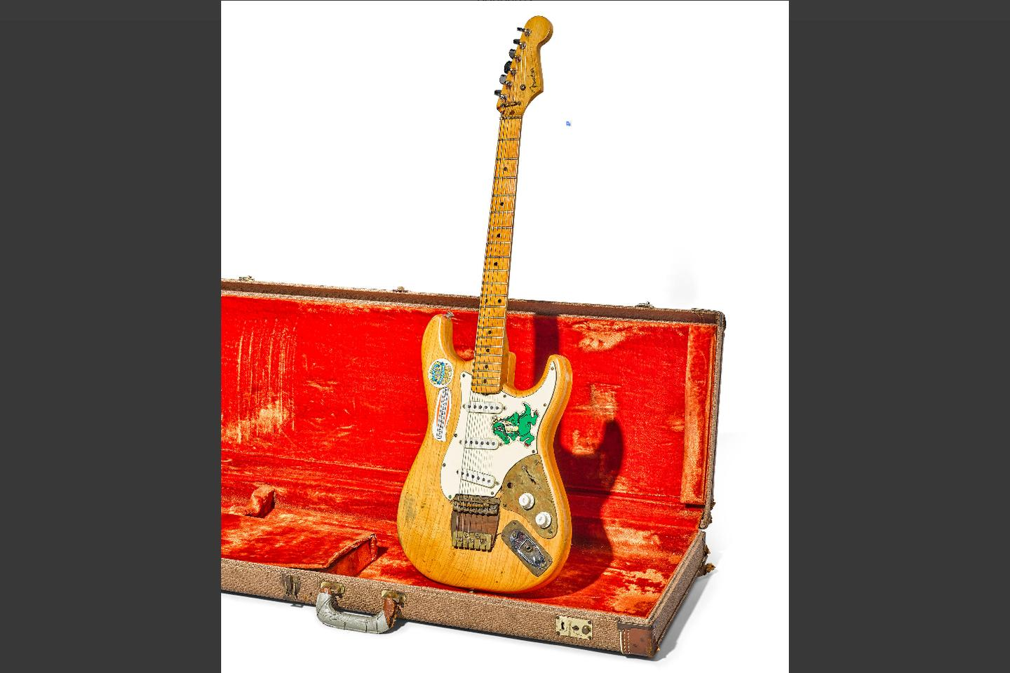 """This Fender Stratocaster, aka """"Alligator,"""" was Jerry Garcia's guitar of choice from early 1971 until late 1973"""