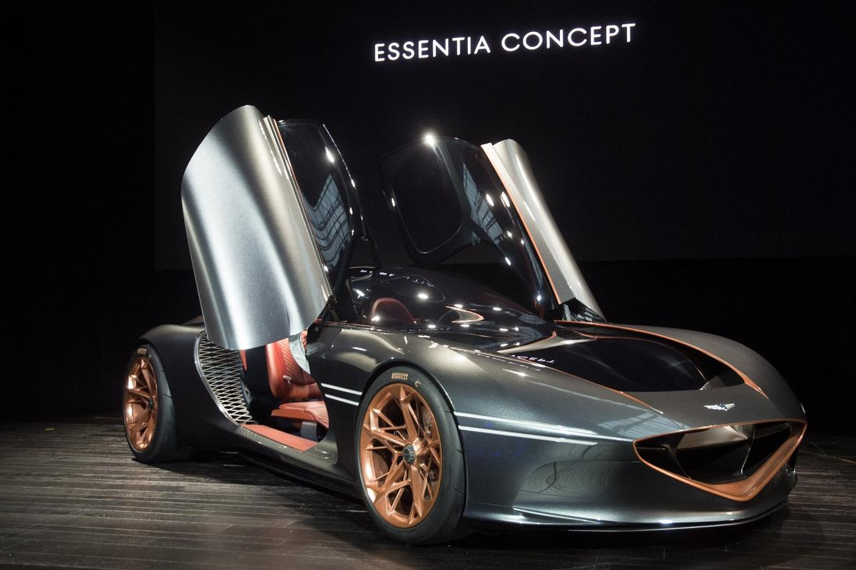 The Genesis Essentia Concept debuts at the New York Auto Show