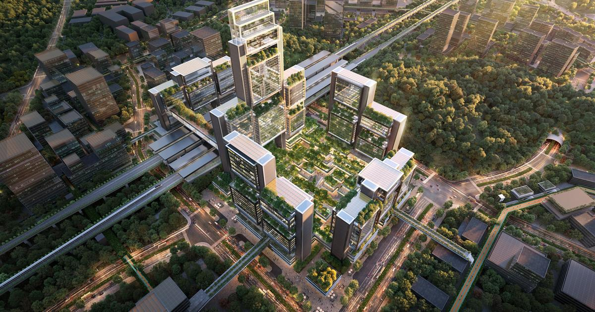 Greenery covered towers to grow over Shenzhen transport hub