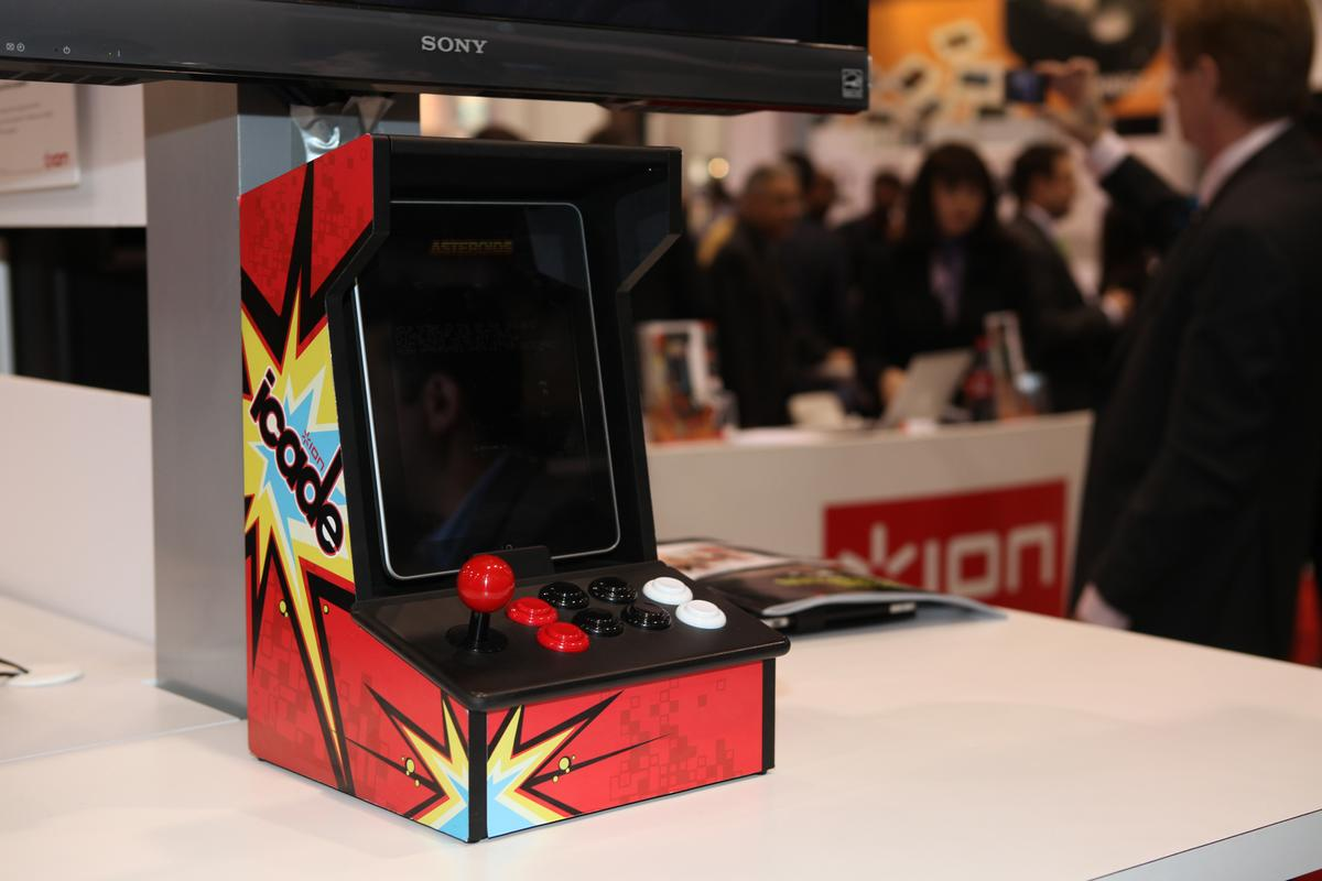 The iCADE mini arcade cabinet for iPad