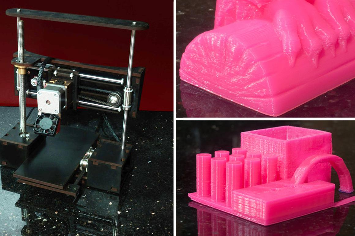 QU-BD's One Up 3D printer can print with a minimu layer height of 50 microns