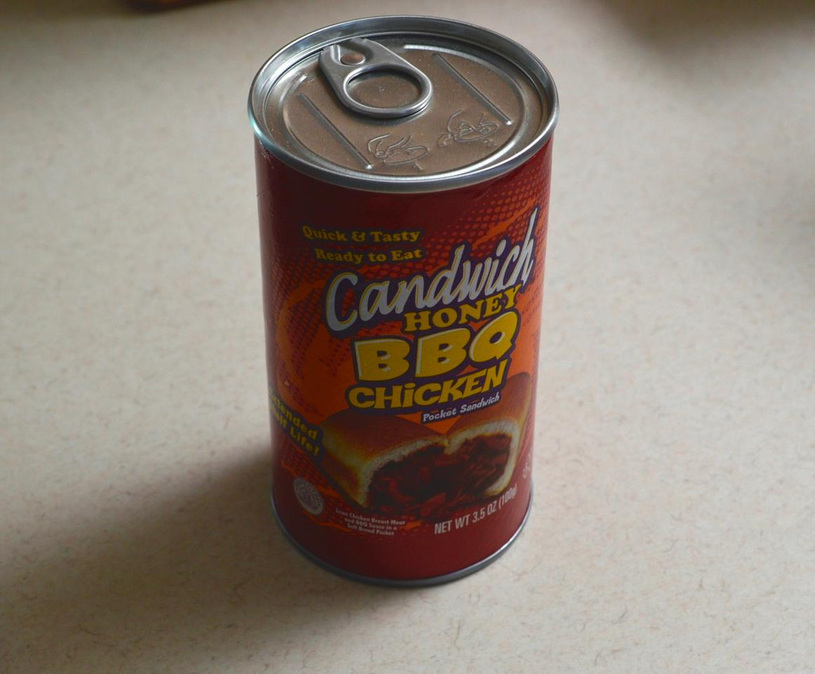 BBQ Chicken Candwich in its new, improved can