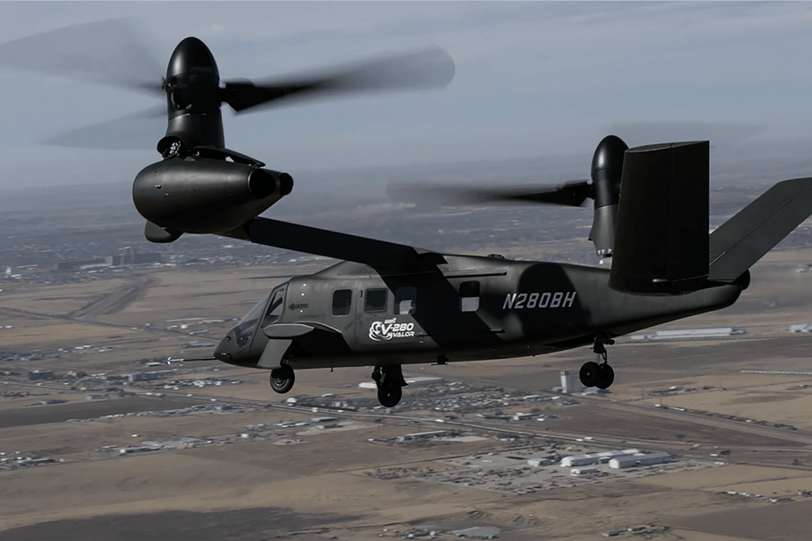 The V-280 Valor has passed its latest series of low-speed agility tests