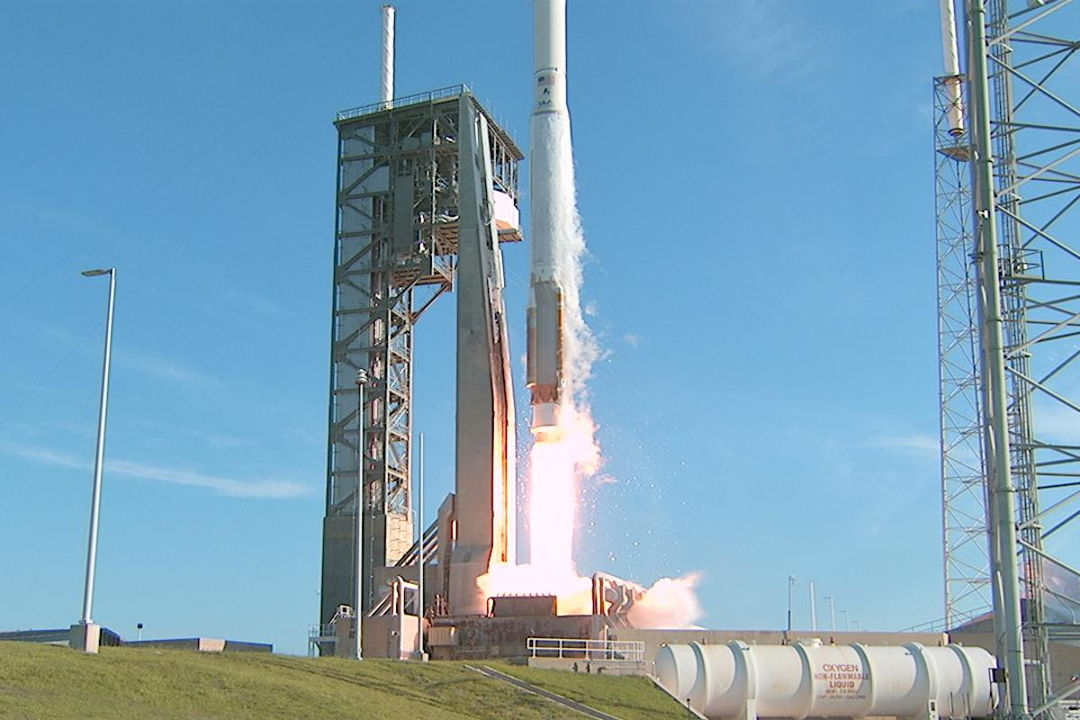 NASA's Tracking and Data Relay Satellite-M (TDRS-M) lifting off from Cape Canaveral