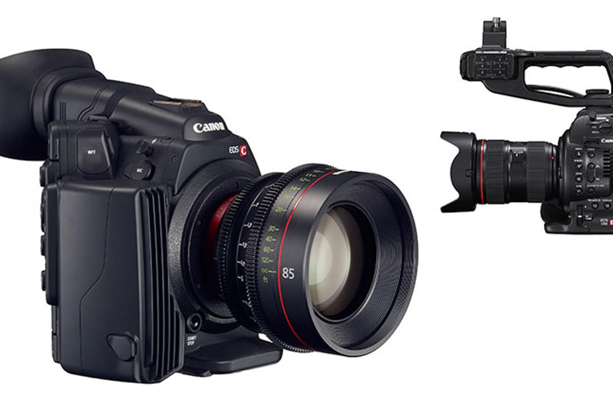 Canon C500 and C100 cameras