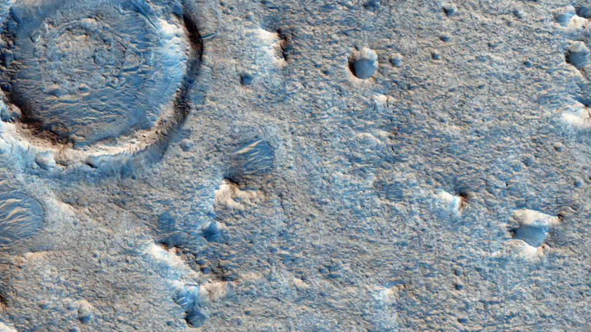 Close up view of Oxia Planum, which has been selected as the preferred landing site for the ExoMars rover
