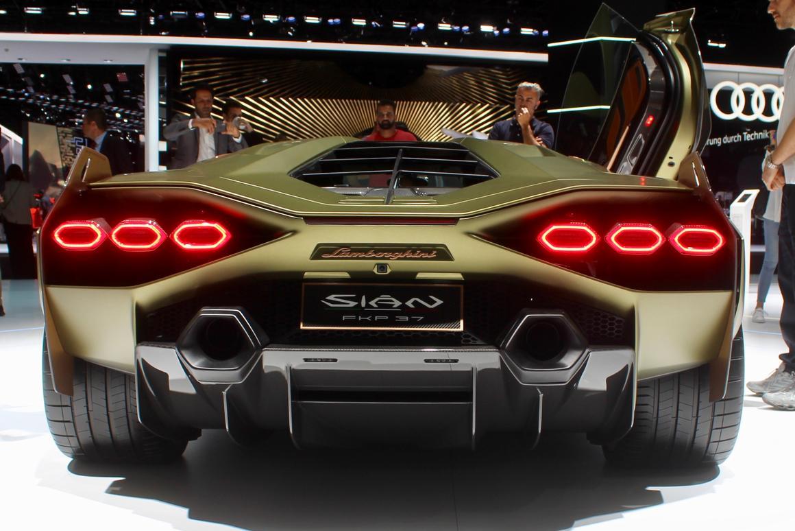 Lamborghini calls the Sián its fastest car ever