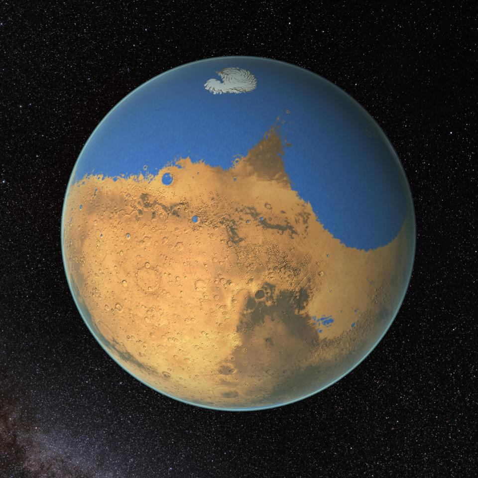 Ancient Mars may have had an ocean covering 20 percent of its surface (Image: NASA's Goddard Space Flight Center)