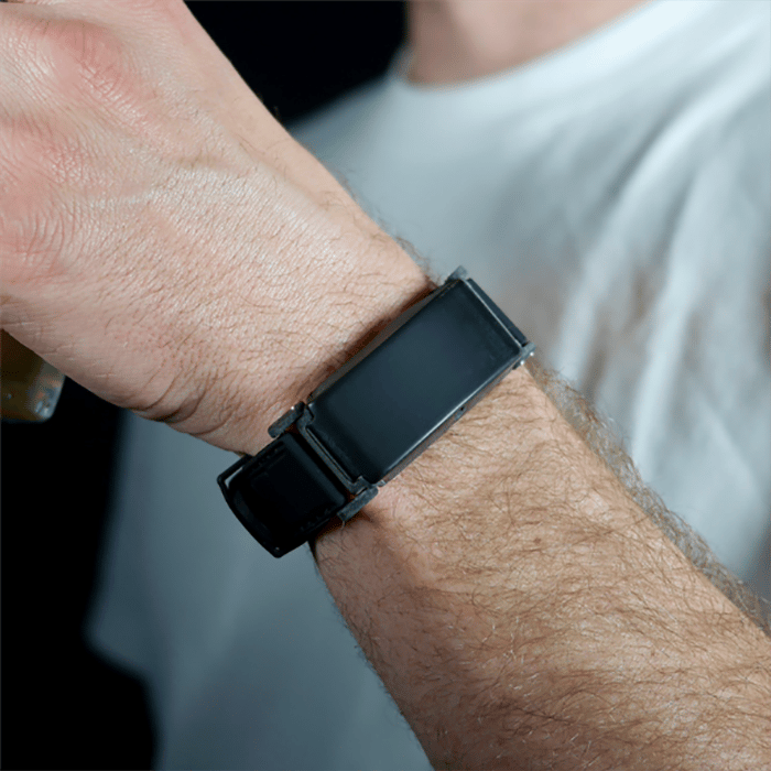 The BACtrack Skyn is a transdermal alcohol sensor that can take up to one reading every second