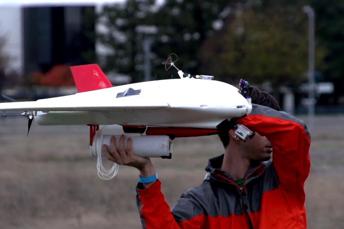 The Burrito Bomber is a flying drone that can take food orders and air drop them at a person's location within minutes