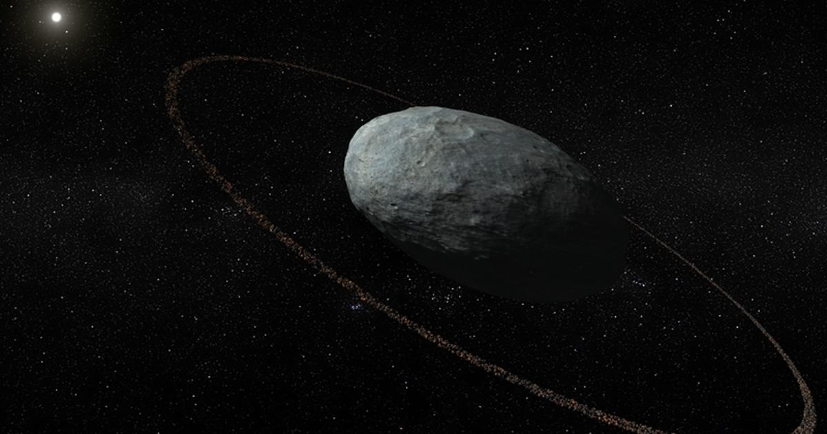 Rocky ring spotted around a dwarf planet in our Solar System