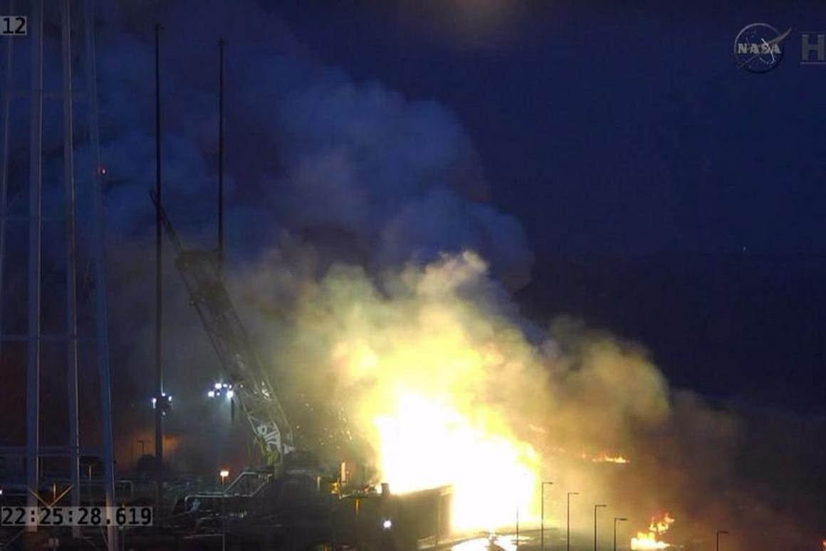 No personnel were injured in the explosion, however the launch facility itself was damaged (Photo: NASA)