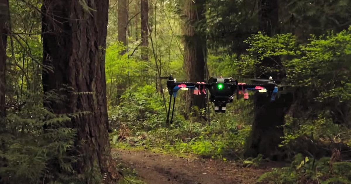 Nvidia's autonomous drone keeps on track without GPS