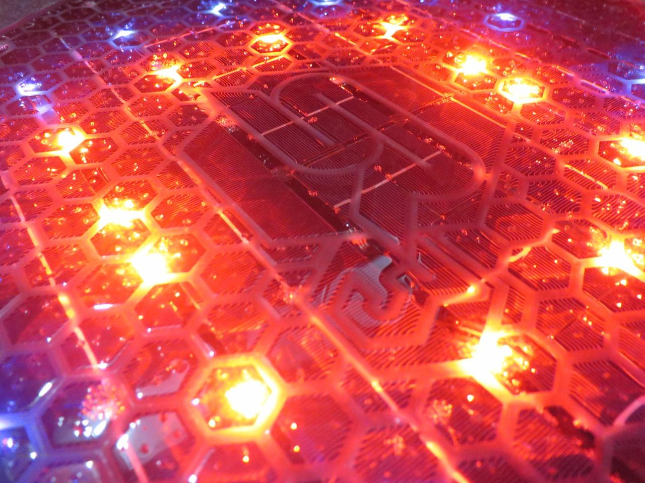 The Solar Roadways third generation prototypes sport over 300 LEDs with more than 16 million available colors
