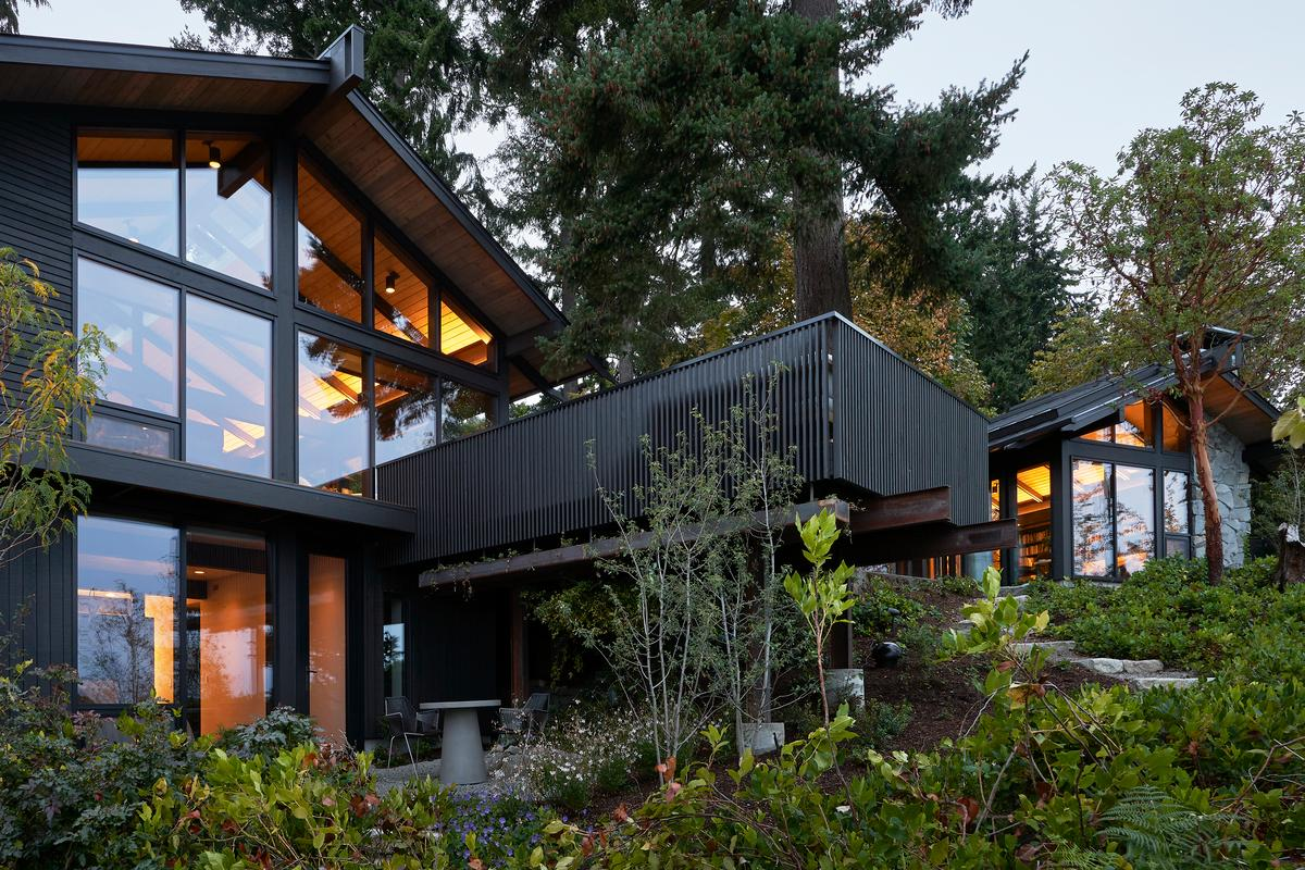 Loom House involved the sustainable renovation of a home and office. It produces more energy than it requires via solar panels, and rainwater is captured and reused. It's one of 10 homes to feature in this year's AIA Housing Awards