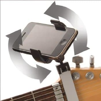 Once mounted the viewing angle of the media player or smartphone can be altered to suit
