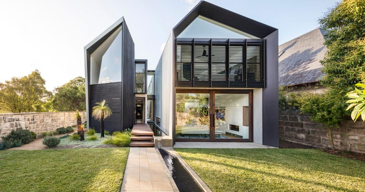 Manmade gorge splits spectacular Iron Maiden House in two
