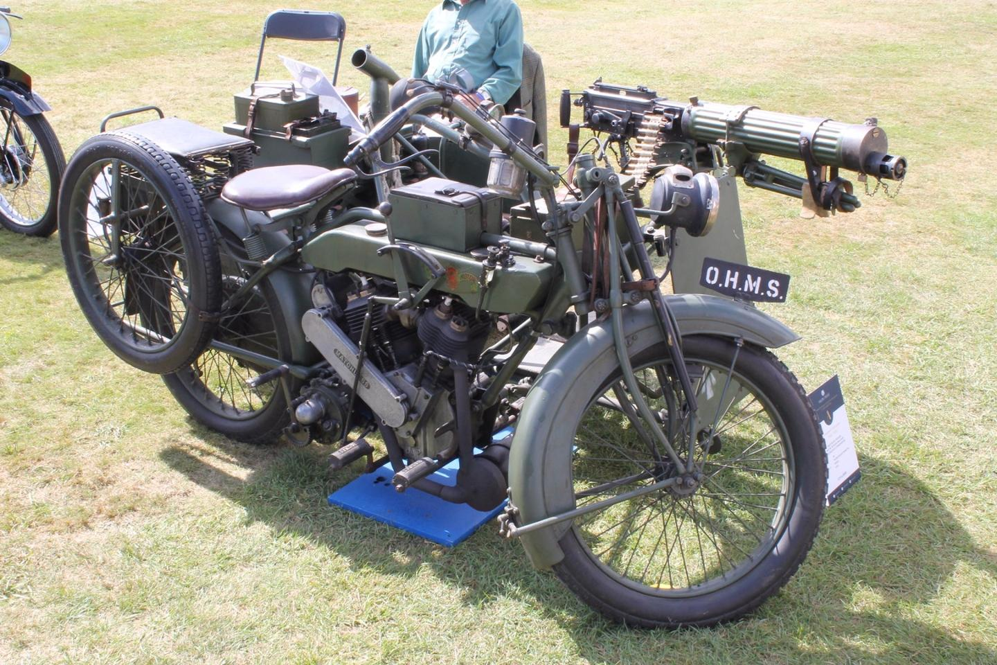 1917 Matchless-Vickers 8B2/M Russian Military Motorycle Combination