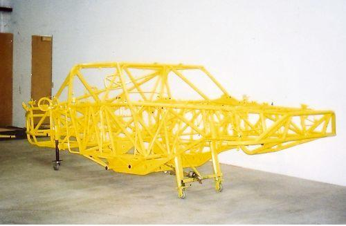 The TA-1's Jeep-built chassis