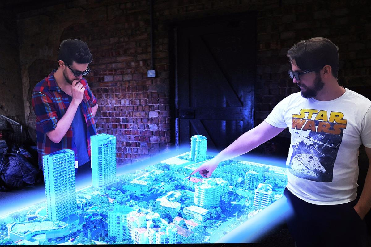 Euclideon's hologram table:early installations are likely to be used primarily at a municipal level for town planning and area response purposes
