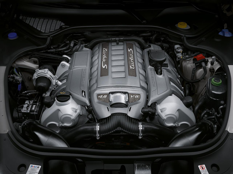 The engine powering Porsche's new Panamera Turbo S