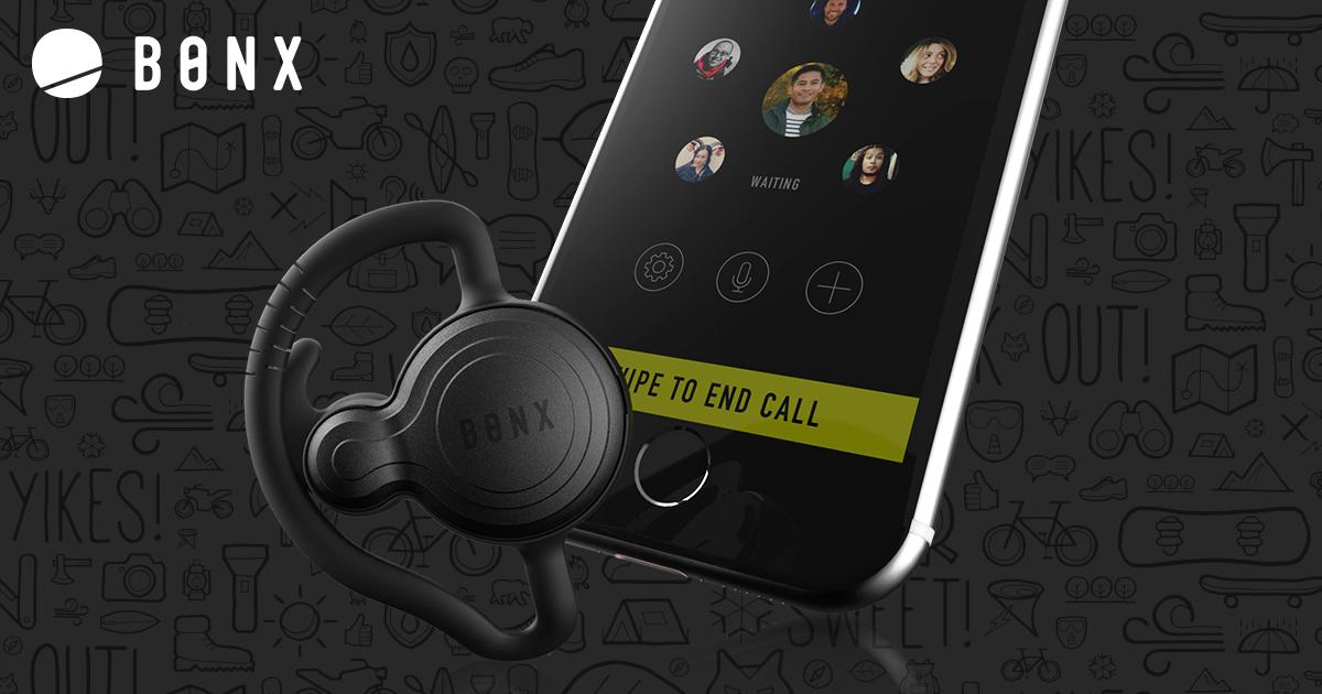 The Bonxsystem consists of a Bluetooth headset and an app