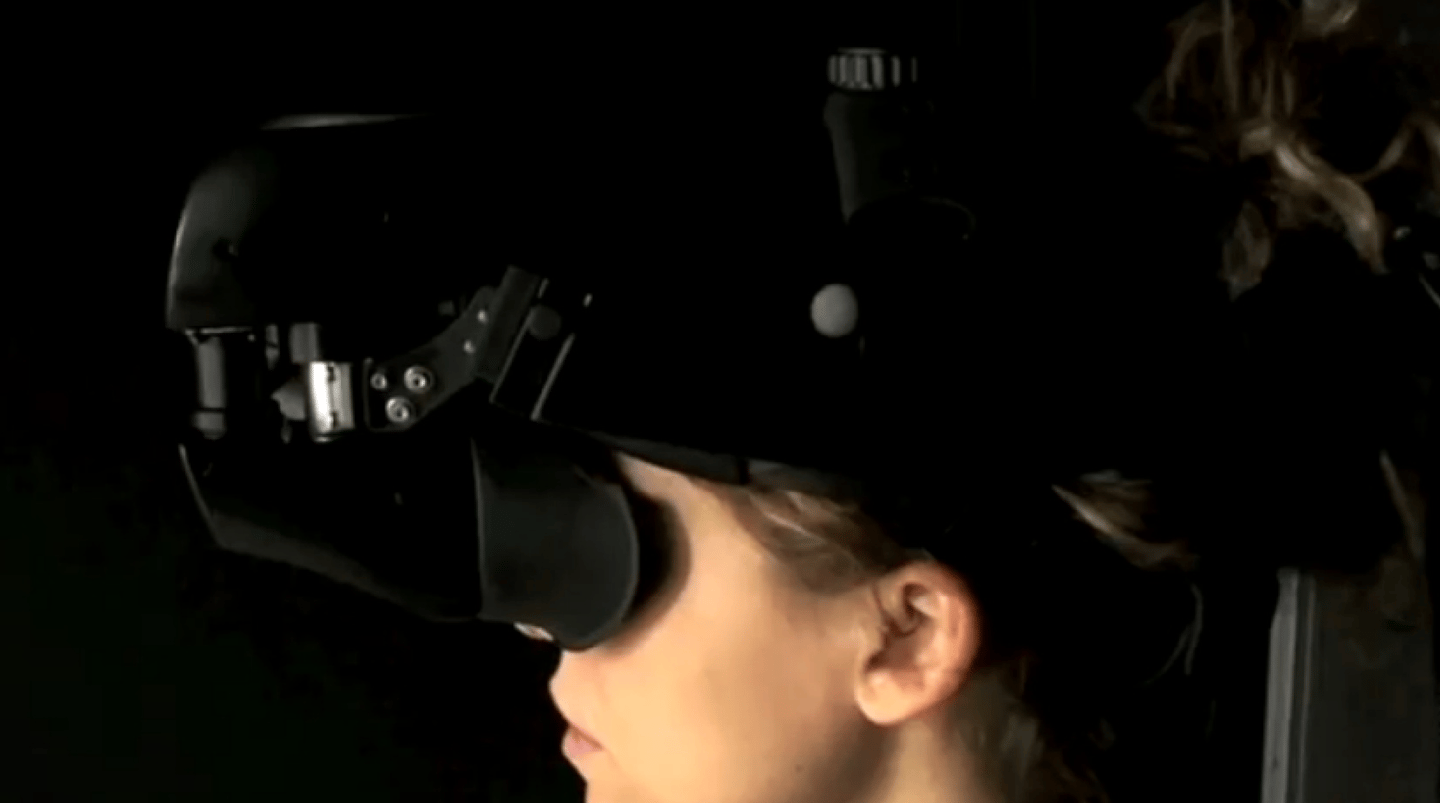 Beaming uses total immersion technology such as virtual reality headsets