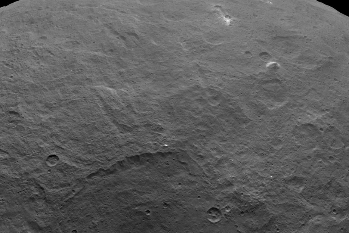 Using models and visualizations of Ceres' surface, researchers are suggesting that ice is not a major factor of the dwarf planet's surface features