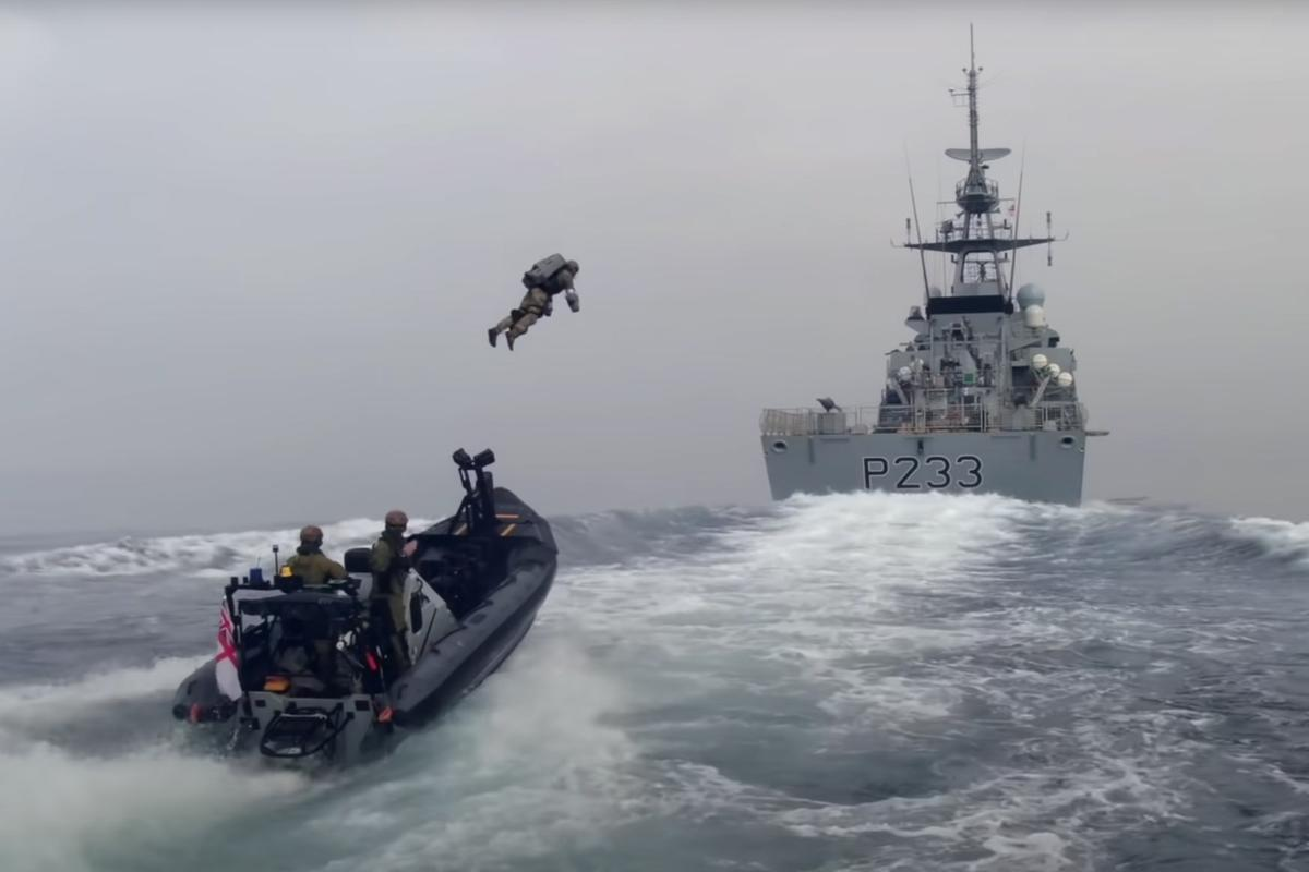"The UK's Royal Marines put the Gravity jet suit to ""very successful"" use in ship boarding demo exercises"