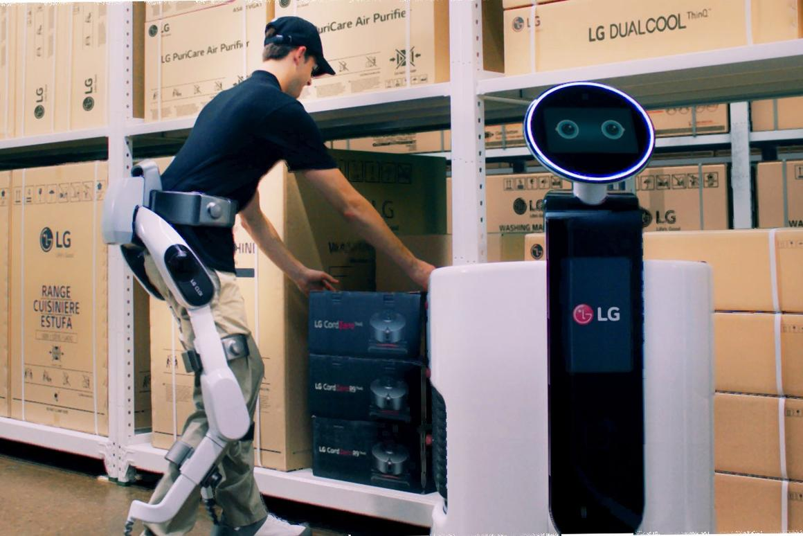 LG's CLOi SuitBot is designed to take the load off factory workers' legs