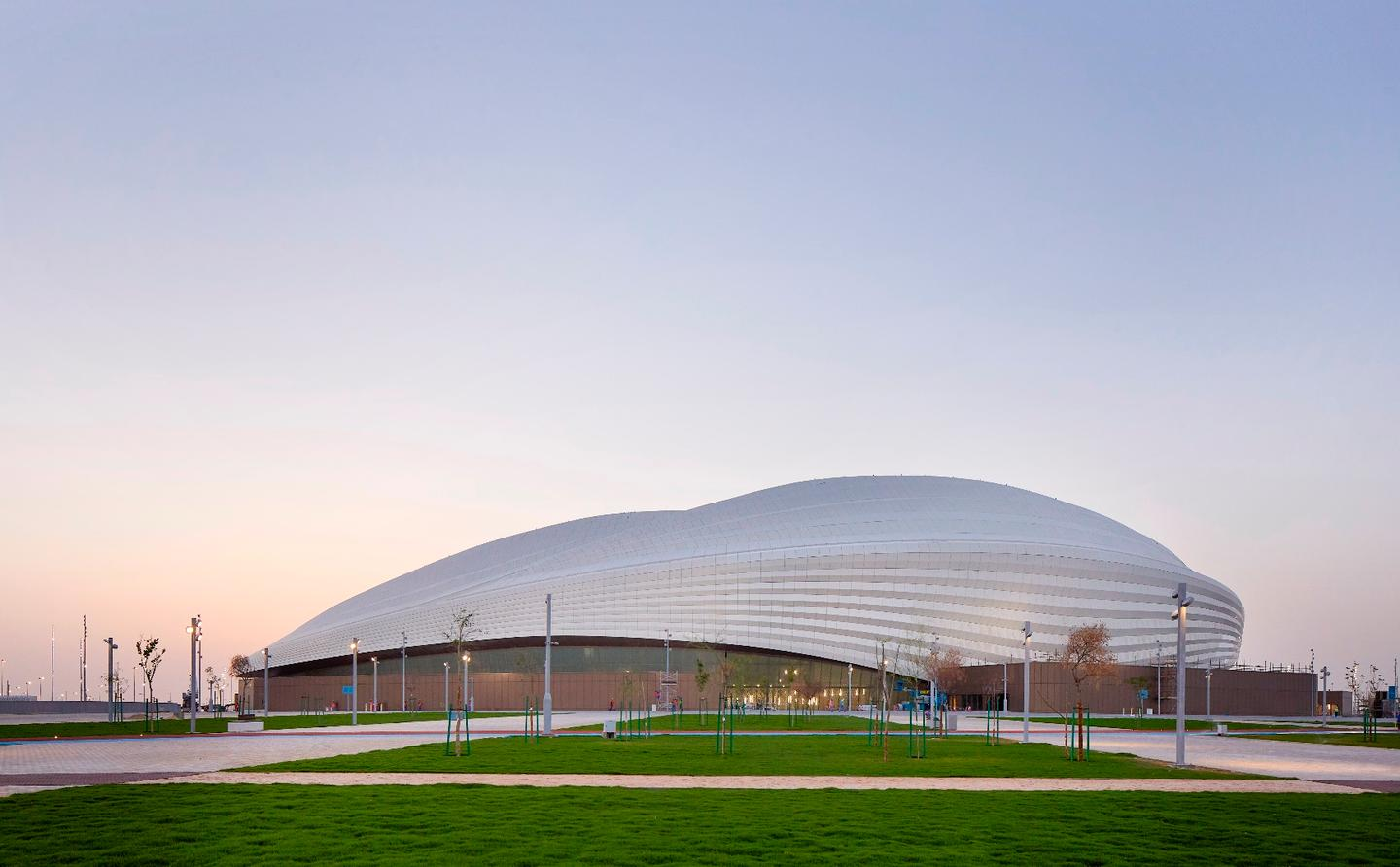 Zaha Hadid Architects, along with Aecom, was commissioned to design the stadium for the 2022 FIFA World Cup