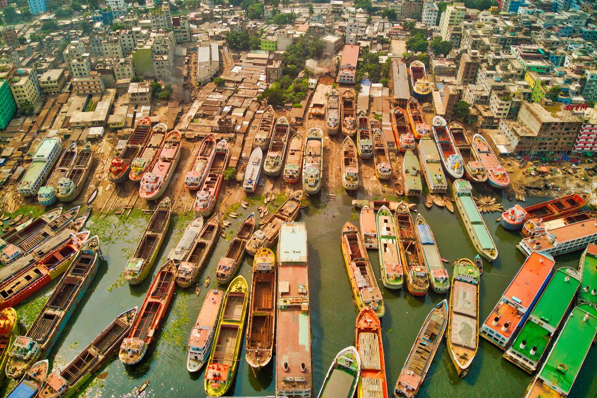 'Ship city' by @azimronnie (Bangladesh). A ship-building dock in Dhaka, Bangladesh