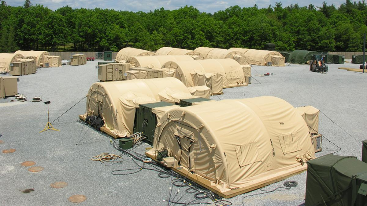 The Base Camp System Integration Laboratory, or SIL, at Fort Devens, Massachusetts (Image: PM Force Sustainment Systems, PEO CSCSS)