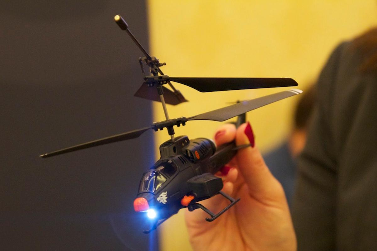 Griffin's latest version of its HELO TC toy helicopter comes with Android support and twin missile launchers