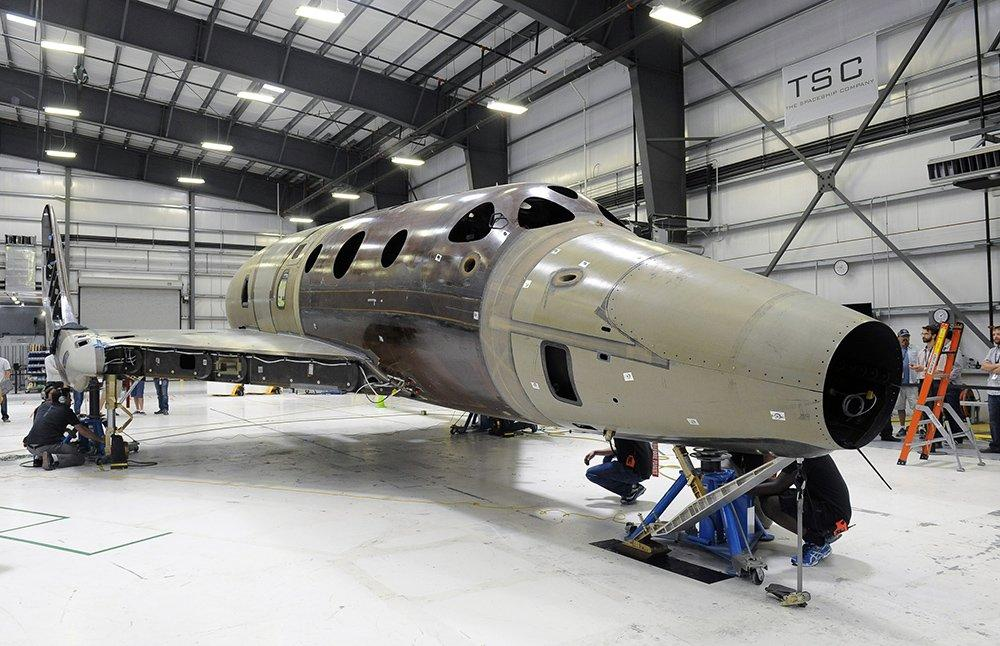 The new SpaceShipTwo is being built by Virgin
