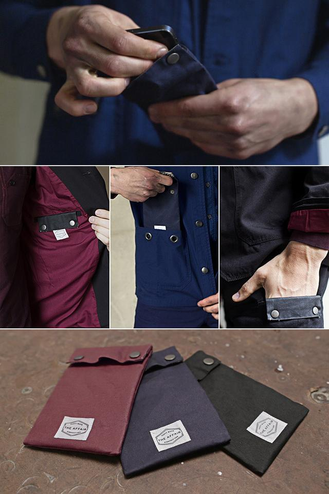 The UnPocket is made from RFID blocking (radio frequency identification) fabric.