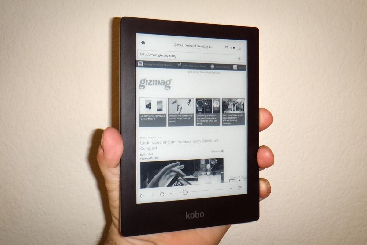 Gizmag reviews Kobo's crystal clear Aura HD e-reader
