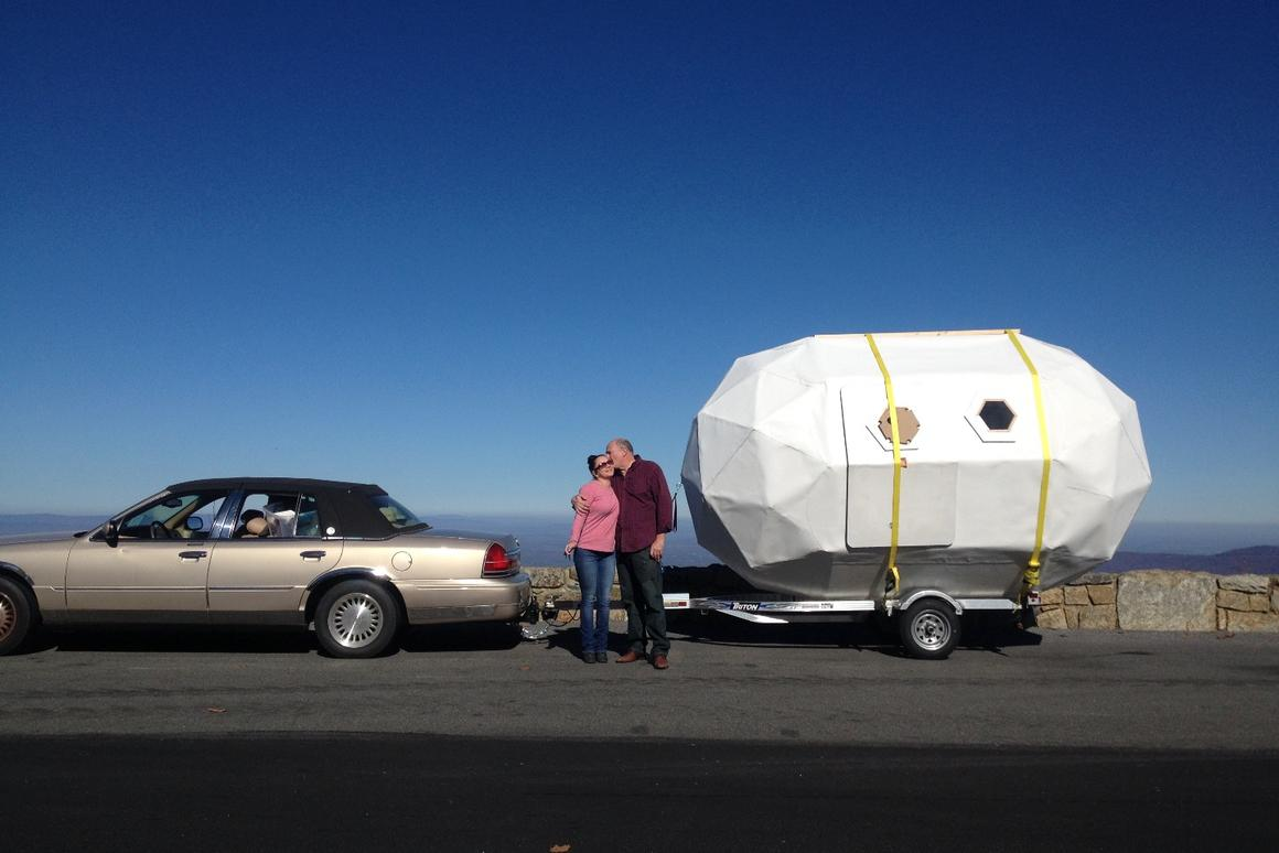 Once the initial Life Pod prototype was built, Weekes hit the road for four months