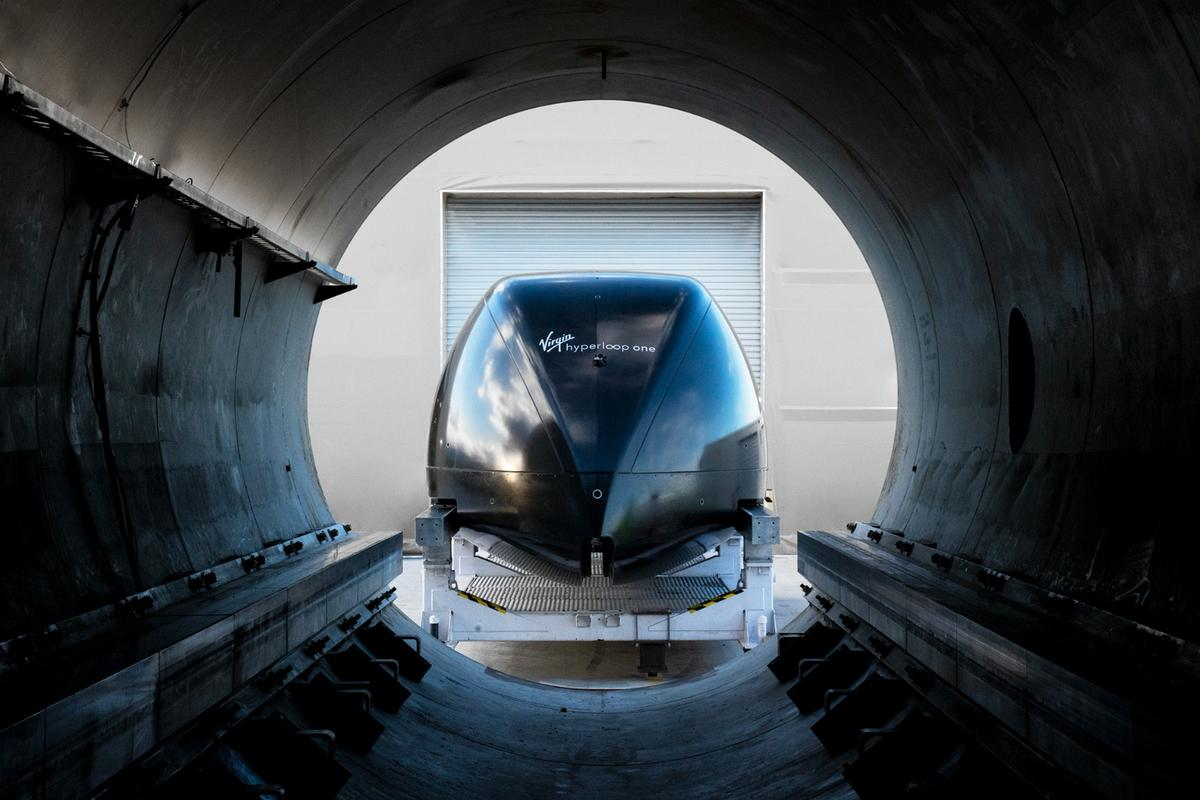 A fully-developed hyperloop system would shuttle people and cargo through near-vacuum tubes at close to the speed of sound
